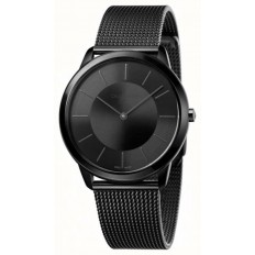 Calvin Klein Unisex Watch Only Time Minimal Collection Black/Black
