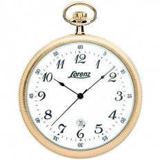 Lorenz Men's Pocket Watch Only Time Tasca Collection Gold Numbers