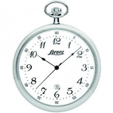 Lorenz Men's Pocket Watch Only Time Tasca Collection Silver Numbers
