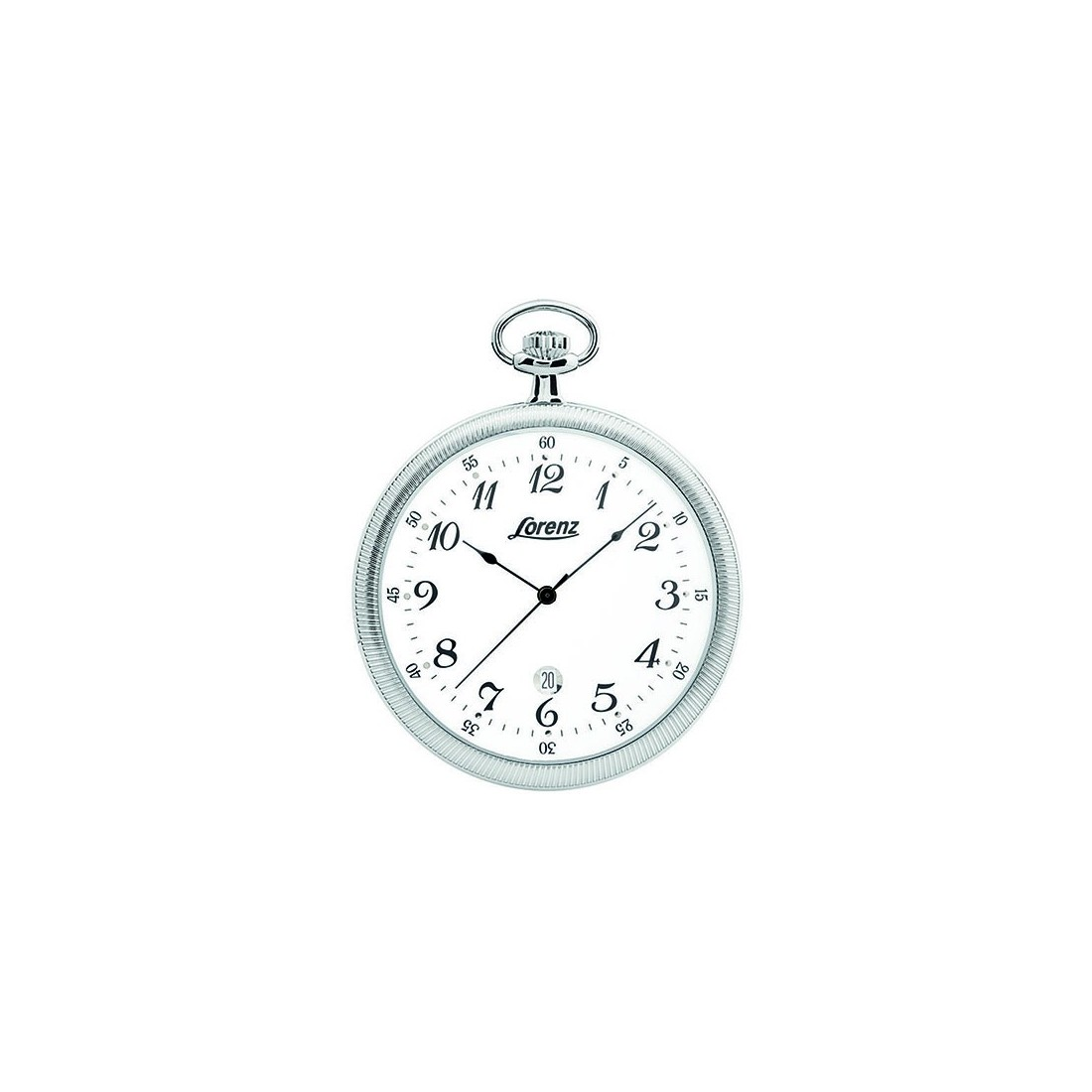 f67ea8f8004 Lorenz Men s Pocket Watch Only Time Tasca Collection Silver Numbers