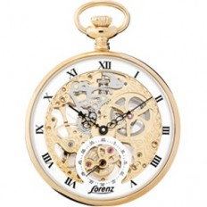 Lorenz Men's Pocket Watch Only Time Tasca Collection Meccanico Gold