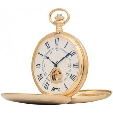 Lorenz Men's Pocket Watch Only Time Tasca Collection Hunter Gold