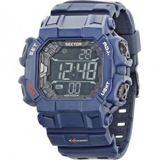 Sector Men's Digital Watch Expander Street Fashion Collection Blue