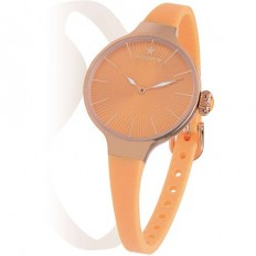 Hoops Women's Watch Only Time Nouveau Cherie Collection Orange