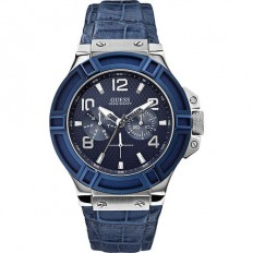 Guess Watch Men's Multifunction Rigor Collection Blue