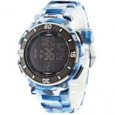 Timberland Men's Digital Watch Cadion Collection Camouflage Blue