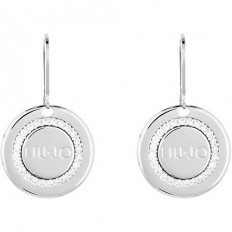 Liu Jo Woman Earrings Brass Logo Zircons