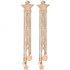 Liu Jo Women's Earrings Stars Rosegold