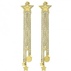 Liu Jo Women's Earrings Stars Gold
