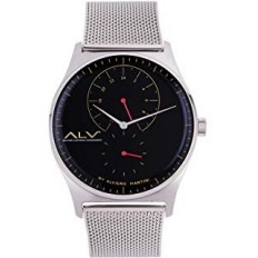 Alviero Martini Men's Watch Only Time ALV Collection Silver/Black