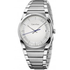 Calvin Klein Men's Only Time Step Collection Silver