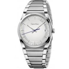 Calvin Klein Orologio Uomo Solo Tempo Collezione Step Silver