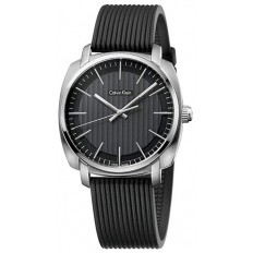 Calvin Klein Men's Watch Only Time Highline Collection Black/Silver
