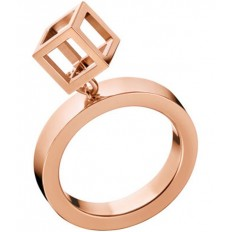 Calvin Klein Women's Ring Daring Collection Cube Rosegold