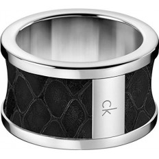 Calvin Klein Unisex Ring Spellbound Collection Black