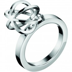 Calvin Klein Women's Ring Show Collection Sphere Silver