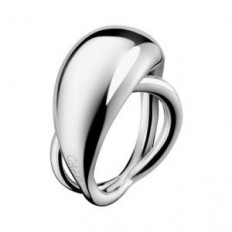 Calvin Klein Women's Ring Fluid Collection Silver