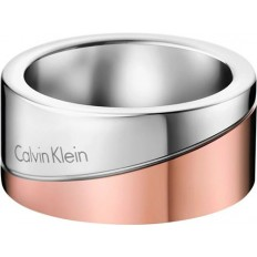 Calvin Klein Women's Ring Hook Collection Silver/Rosegold