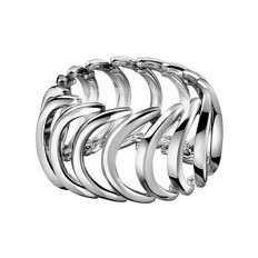 Calvin Klein Women's Ring Body Collection Silver