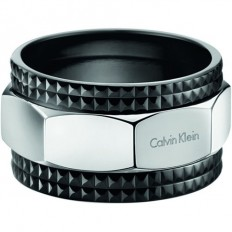 Calvin Klein Man Ring High Collection Black/Silver