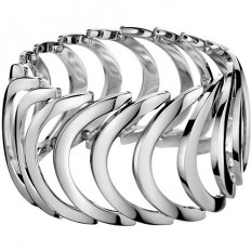 Calvin Klein Women's Bracelet Body Collection Silver