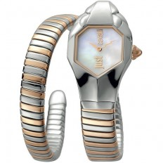 Just Cavalli Women's Watch Only Time Glam Chic Collection Rose/Silver