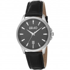 Liu Jo Men Watch Only Time Luxury Groove Collection Black/Black