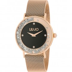 Liu Jo Watch Woman Only Time Dancing Slim Collection Rosegold/Black