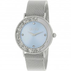 Liu Jo Watch Woman Only Time Dancing Slim Collection Silver/Pale Blue