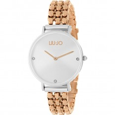 Liu Jo Watch Woman Only Time Framework Collection Rosegold/Silver
