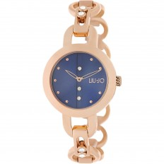 Liu Jo Watch Woman Only Time Rolling Collection Rosegold/Blue