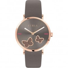 Furla Watch Woman Only Time Giada Butterfly Collection Brown