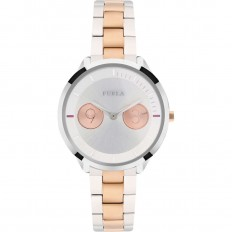 Furla Watch Woman Only Time Metropolis Collection Silver/Rosegold