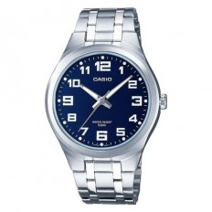 Casio Men's Watch Only Time Steel Blue Numeral
