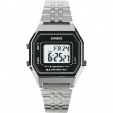 Casio Digital Watch Woman Vintage Silver/Black