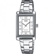 Casio Orologio Donna Solo Tempo Rectangular White