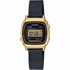 Casio Orologio Donna Digitale Vintage Milanese Gold/Black