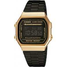 Casio Orologio Unisex Digitale Vintage Black/Gold