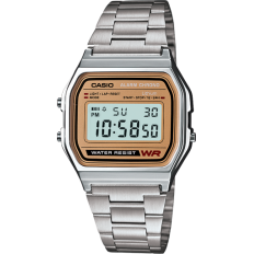 Casio Unisex Digital Watch Vintage Silver/Gold