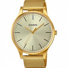 Casio Unisex Watch Only Time Milanese Gold