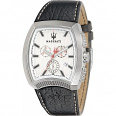 Maserati Watch Man Chronograph Calandra Collection White
