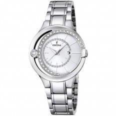 Festina Watch Woman Only Time Mademoiselle Collection Silver Crystals