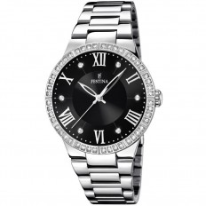 Festina Watch Woman Only Time Mademoiselle Collection Black Roman