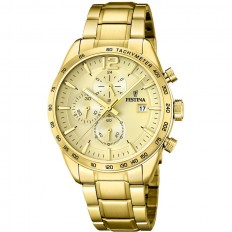 Festina Watch Man Chronograph Prestige Collection Gold