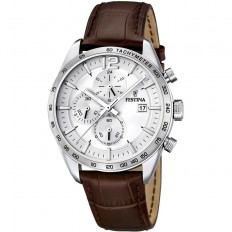 Festina Watch Man Chronograph Timeless Collection Brown