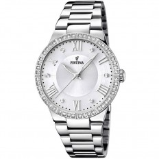 Festina Watch Woman Only Time Mademoiselle Collection Silver Roman