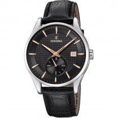 Festina Watch Man Only Time Retro Collection Black