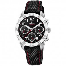 Festina Watch Man Chronograph Timeless Collection Black