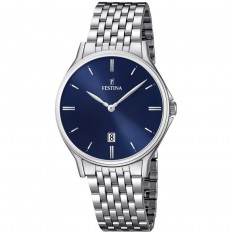 Festina Watch Unisex Only Time Acero Collection Blue