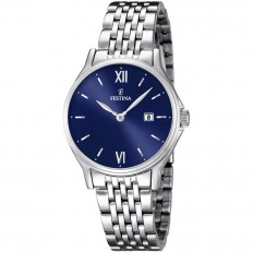 Festina Watch Woman Only Time Acero Collection Blue